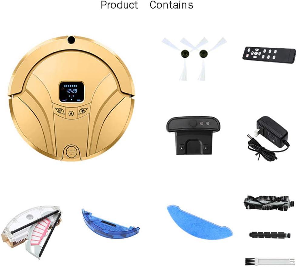 FAPROL Robot Aspirateur Domestique Balayeuse Multifonctionnelle Anti-Chute À Induction Intelligente, Télécommande APP Mobile Gold