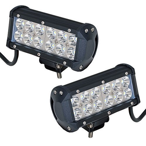 "UNI-Balance Pair 7"" INCH Led Work Light Bar 36W Led Spot Lights Fog Lights Waterproof IP67 for Off Road JEEP 4WD 4X4 Toyota Ford Marine Boat ATV UTE UTV SUV Led Lights Driving Lamp"