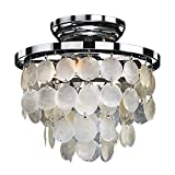 Glow Lighting 636CC10SP Vista Crystal Flush Mount, 6″W For Sale