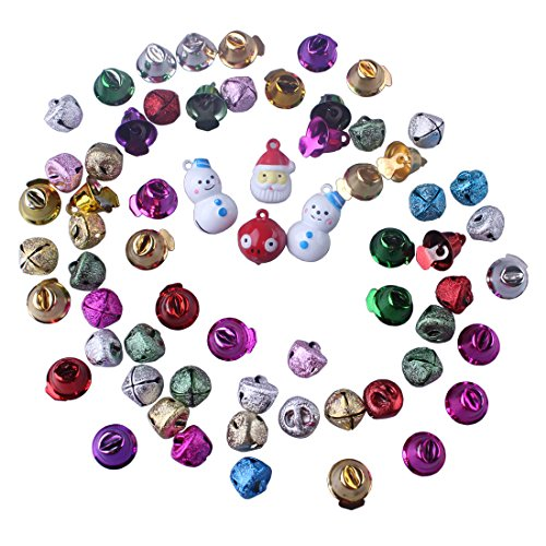 Metallic Glitter Mix Color Metal Jingle Bells Rings Charms Embellishments For Crafts Party Christmas Xmas Decoration (Enameled Cow Charm)