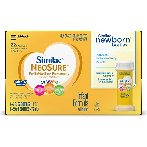 Price comparison product image Similac NeoSure Infant Formula with Iron,  For Babies Born Prematurely,  Ready-to-Feed bottles,  2 ounces (8 bottles)