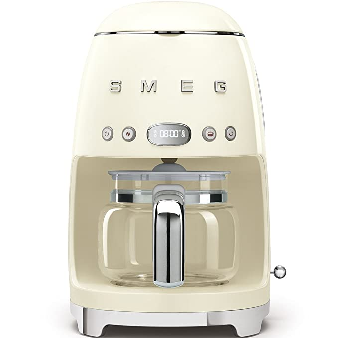 SMEG 1950s Retro Style Coffee Maker Machine (Cream)