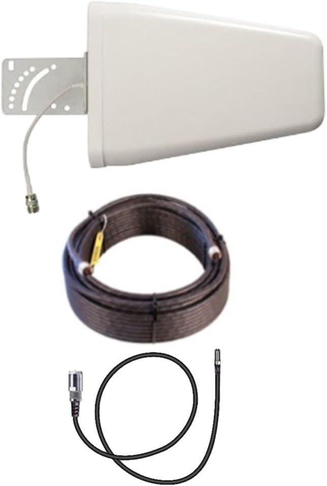 12dbi-15m Cable Integrado Evitar p/érdidas de se/ñal en Conectores SMA Macho Gran tama/ño Antenas 4G Wonect Yagi Log LTE Exterior 10 Metros Cable SMA Macho Largo Alcance