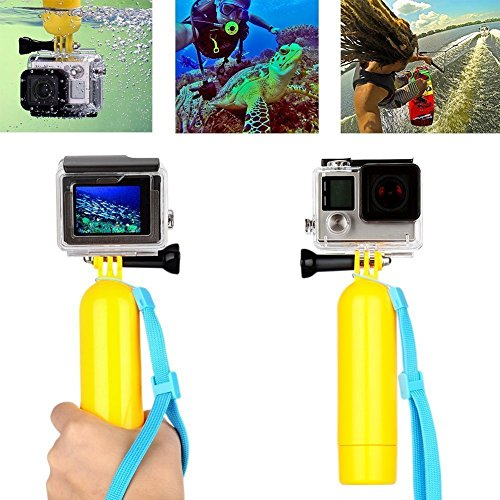 DigiHero New Floating Hand Grip/Bobber,Stick Monopod Pod with Mini Tripod, 3-in-1 Water Sport Accessories Kit
