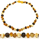 Amber Teething Necklace - TRULY Raw 100% Baltic Amber - Multicolor