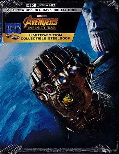 Avengers: Infinity War [SteelBook] [Digital Copy] [4K Ultra HD Blu-ray/Blu-ray]