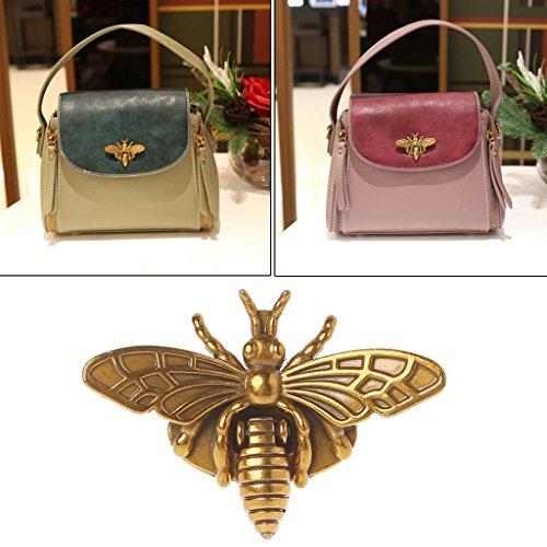 - Hacloser Turn Lock for Purses Handbag Bee Shape Clasp Decoration Metal Hardware DIY Shoulder Bag Making Tool (Bronze)