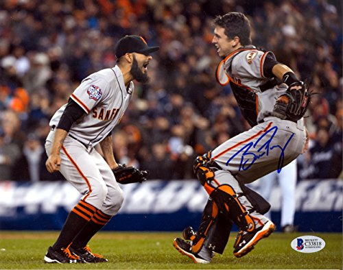 d6f816323 BUSTER POSEY AUTOGRAPHED 8X10 PHOTO SAN FRANCISCO GIANTS 2012 WORLD SERIES  BECKETT BAS STOCK  125165