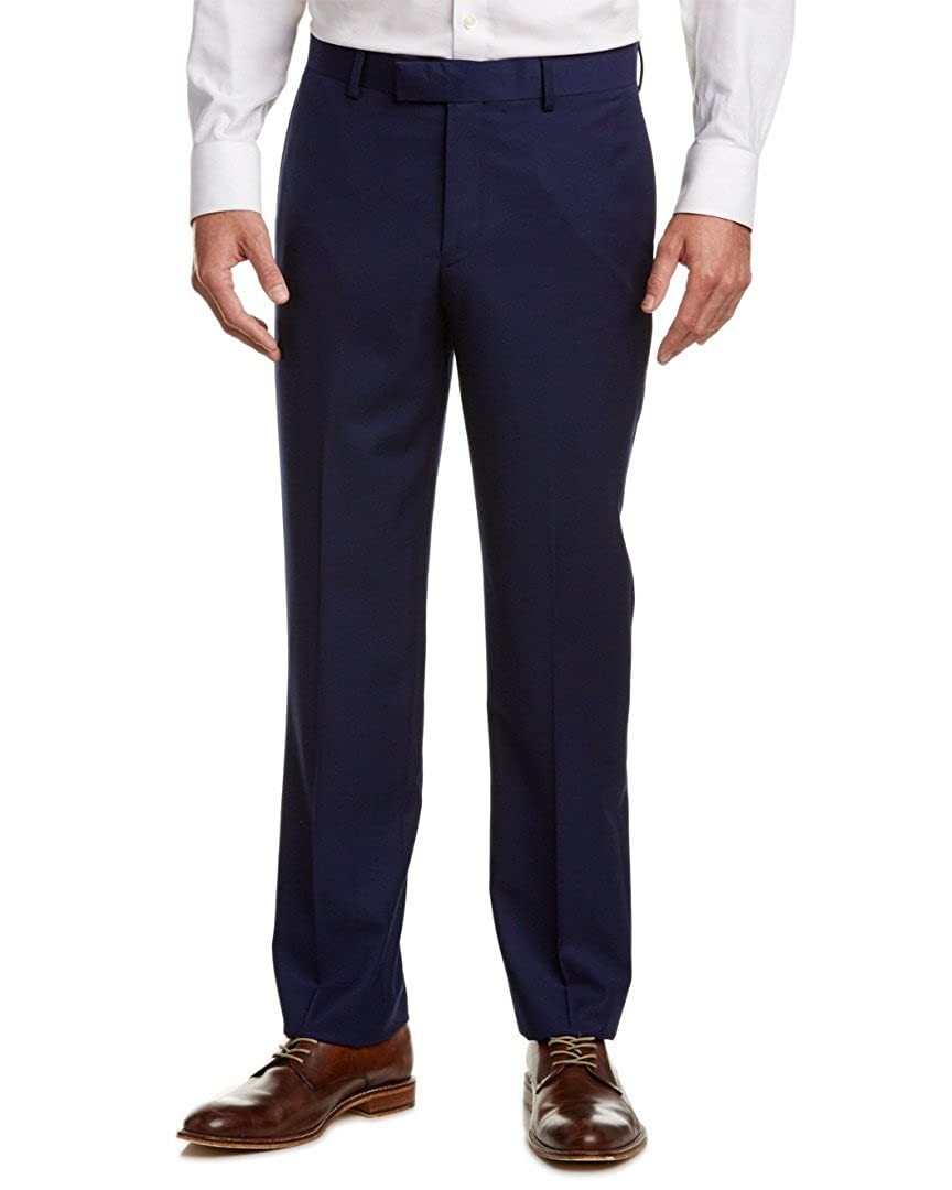 Nicole Miller NMAN Men's Solid Suit Separate Dress Pants - Slim Fit, French Blue 211