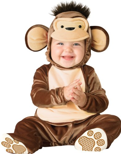 InCharacter Costumes Baby's Mischievous Monkey Costume, Brown/Cream, Medium