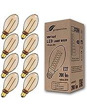 greenandco® LED vintage retro glödtråd glödlampa bärnsten Edison stil 1800K (extra varm vit) 320° 230V glaslampa, ingen flicker, ej dimbar