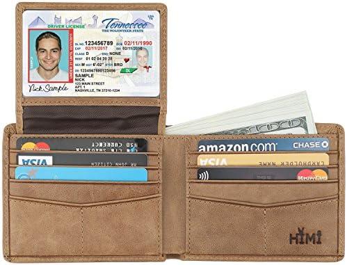 Wallet Men Genuine Leather Blocking Stylish product image