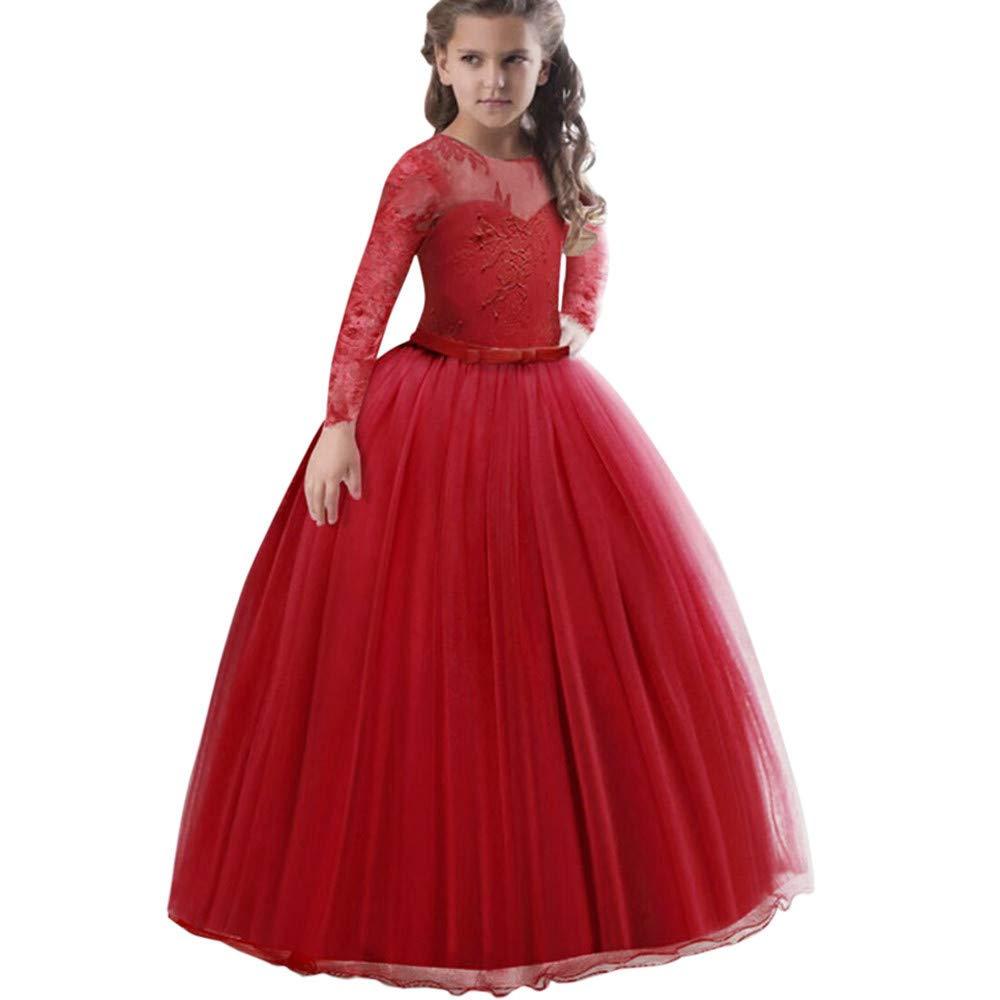 Huhu833 Baby Kleid, Spitze Mädchen Prinzessin Brautjungfer Festzug Tutu Tüll Kleid Party Hochzeitskleid
