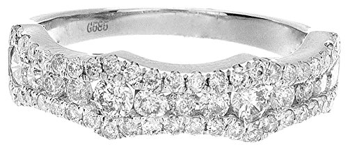 1.00ctw Round cut Natural Diamond Fashion Ring 14k White Gold by Zacks Fine Jewelry