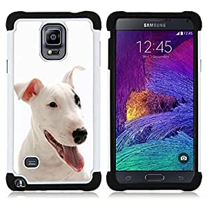 - Bulldog Bull Dog Pet Puppy - - Fulland Deluxe Hybrid TUFF Rugged Shockproof Rubber + Hard Case Cover FOR Samsung Galaxy Note 4 SM-N910 N910 IV Queen Pattern