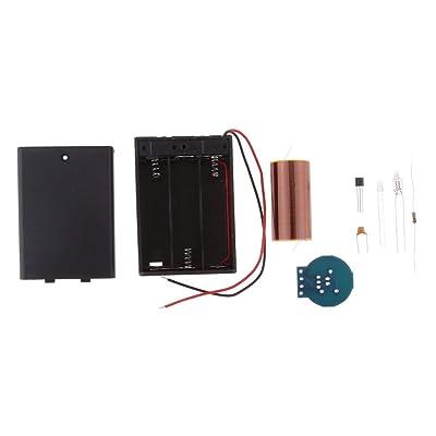 Tongina Mini SSTC Tesla Coil Kits Lighting Energy-Saving Lamp Student Experiments: Toys & Games