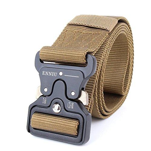 Military equipment army tactical nylon belts Men Solid Buckle Combat sport outdoor quick Belt