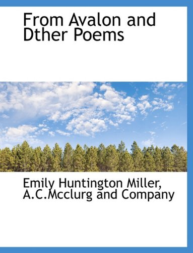 Download From Avalon and Dther Poems PDF