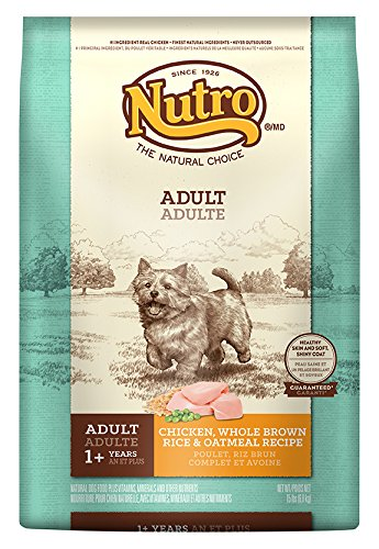 The Nutro Company Adult Wholesome Essentials Dog Food with Chicken Whole Brown Rice and Oatmeal Formula 15-Pound