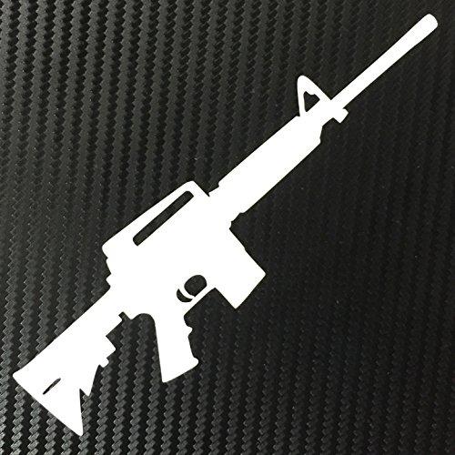 (AR15 Rifle Gun Decal Sticker Custom Die-cut Vinyl American USA Merica United States Marines Army Navy Airforce Police)