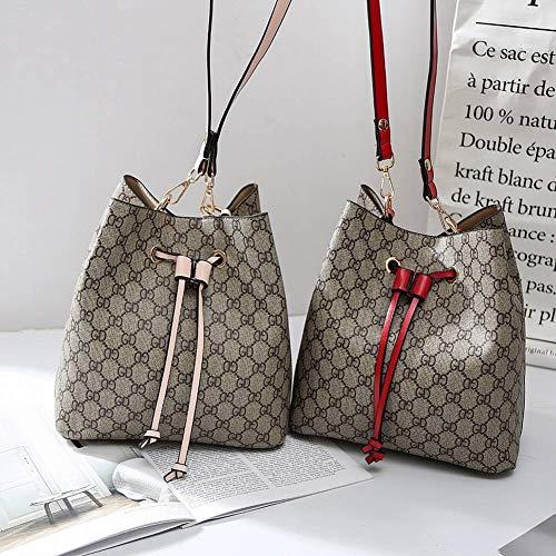 retrò multi moda diagonale a tracolla per nero albicocca stampato tote modello a le creativa tracolla secchiello donne Borsa funzione femminile borsa S8t1S