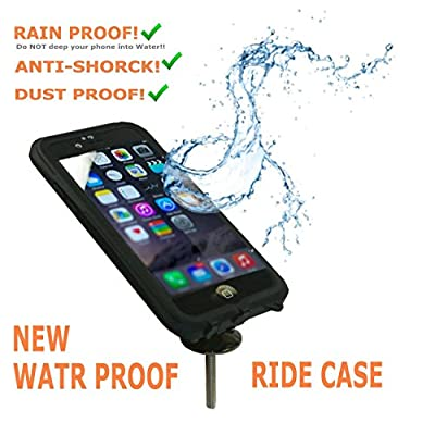 Eximtrade Bike Mount Phone Holder Phone Case Waterproof for Apple iPhone 6 (Black)