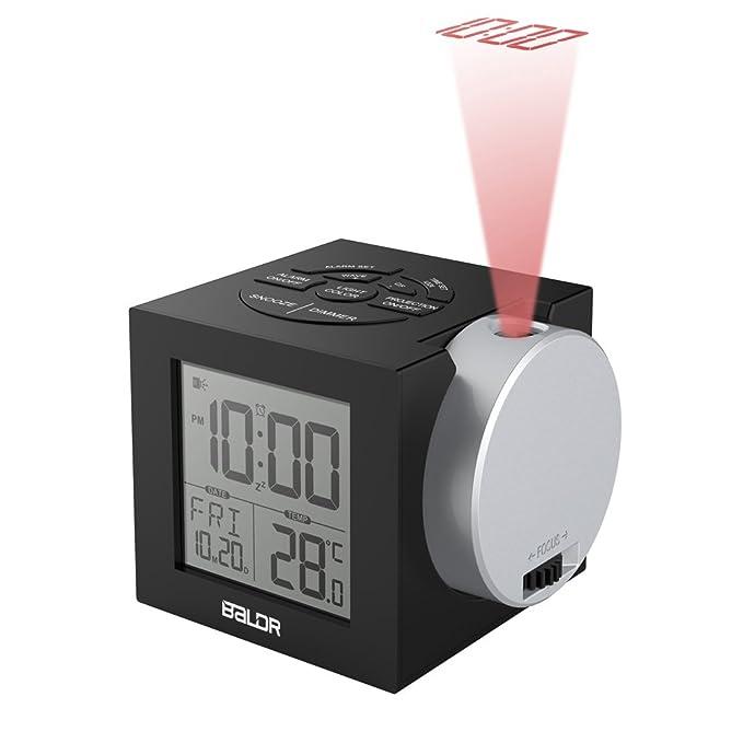 Amazon.com: Baldr Digital regulable reloj de proyección ...