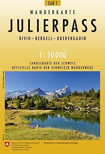 268T Julierpass Wanderkarte: Bivio - Bergell - Oberengadin (Wanderkarten 1:50 000)