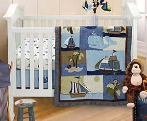 NoJo Ahoy Mate Crib Bedding Set, Multi