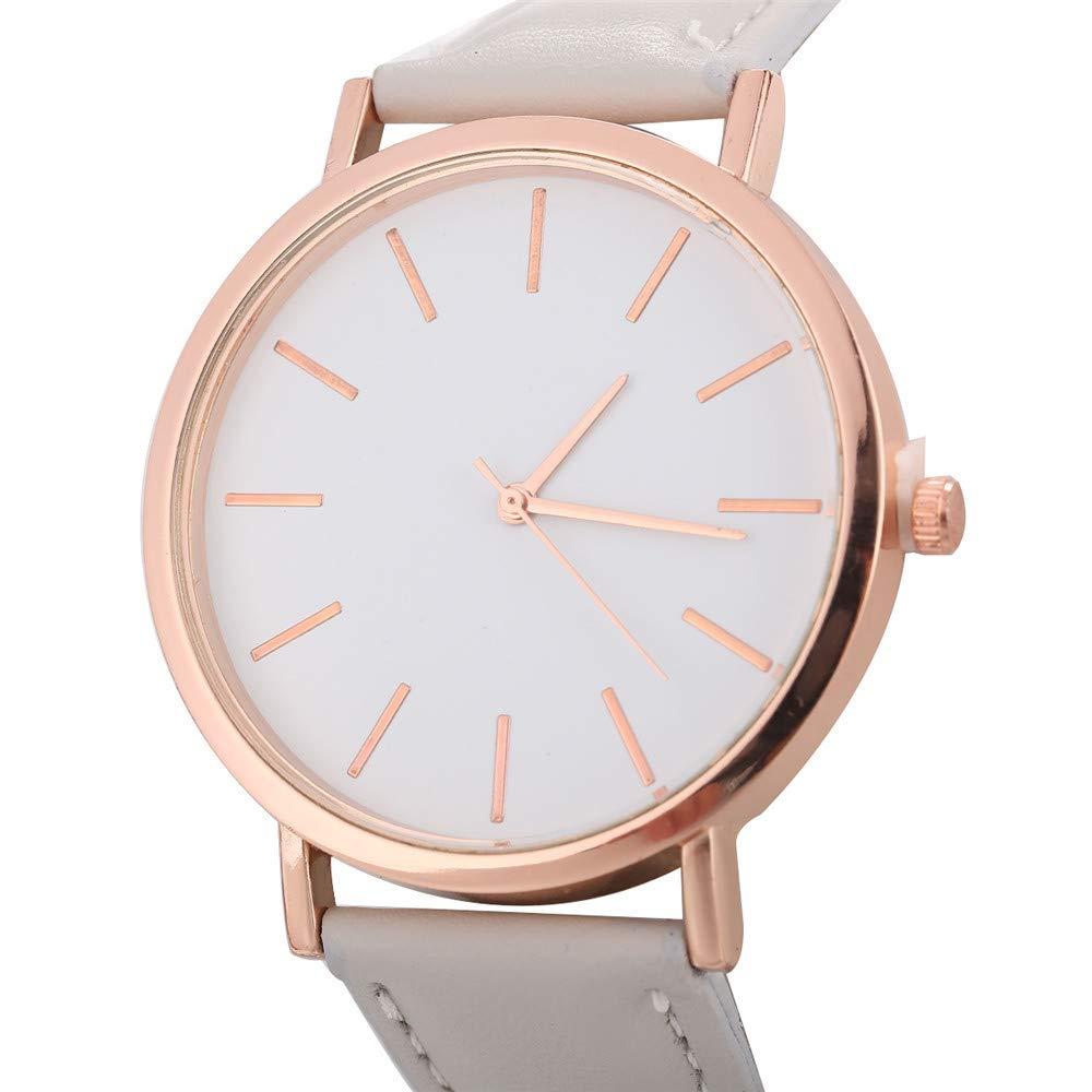 YpingLonk_ Relojes para Mujer Retro Cuero de Imitación Relojes Regalo Unisex Relojes de Pulsera CláSico Accesorios: Amazon.es: Ropa y accesorios