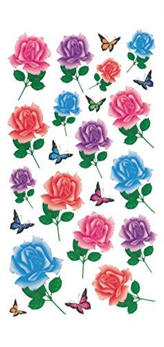 rose butterfly temporary tattoo Bohemian Hippy
