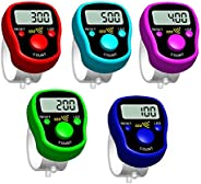 Finger Counte,LED Electronic Handheld Tally Counter Clicker Finger Ring Golf Digit Stitch Marker.Color Random