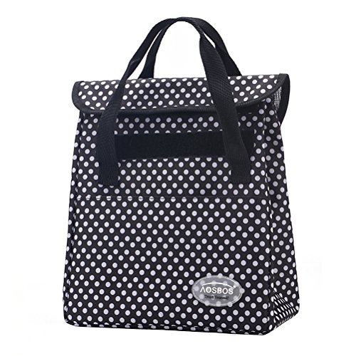 Aosbos Lunch Bag Insulated Lunch Box Fashionable Cooler Bag for Women Men with Detachable Shoulder Strap