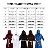 Cos2be Medieval Priest Monk Robe-Hooded Cap Cloak