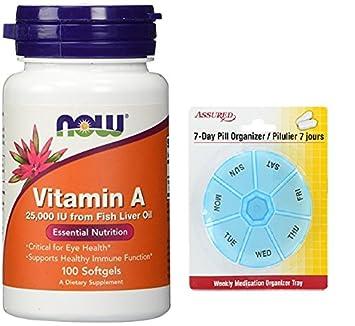 Ahora alimentos vitamina A 25000 UI 100 cápsulas