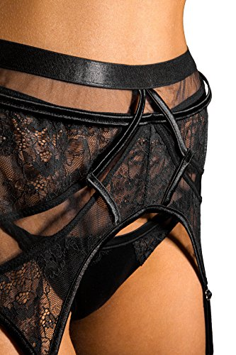 1dc61076a sofsy Lace Garter Belt Suspender Belt with Clips for Women s Stockings ( Stockings Sold Separately