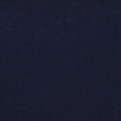 (Quality Linen 0532803 European Linen Blend Navy Fabric by The Yard,)
