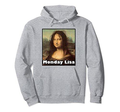 Unisex La Gioconda Mona Lisa Funny Monday Lisa Art Hoodie Medium Heather (Mona Lisa Portrait Costume)