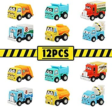 TONZE Coches Juguete Camion Mini Vehiculos de Construcción Tire hacia Atrás y Suelte Juego Set Coches Pequeños para Infantiles Niños Niñas 3 4 5 Años (12 Autos): Amazon.es: Juguetes y juegos