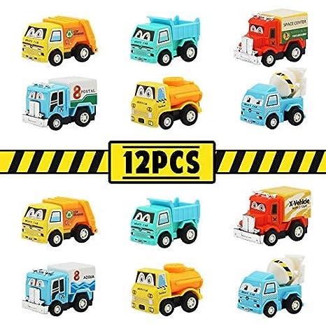 TONZE Coches de Juguetes Vehículos Camión Juguete Plastico Míni Coche Juguetes Set para Infantil Niños Niñas 3 Años+, 2 Sets: Amazon.es: Juguetes y juegos