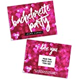 Bachelorette Party Dare Card Game | Bridesmaids Girls Night Out | Both Casual and Crazy Dares | Includes 24 Cards with Scratch Off Stickers