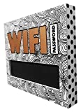 Make your guests feel welcome with this chalkboard block sign that displays your Wi-Fi password. Cute & modern for any home/apartment/condo/office. Perfect for bars, restaurants, hotels, convention or conference rooms.