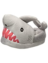 Trimfit Boys' Light-up Eyes Shark Slippers Moccasin