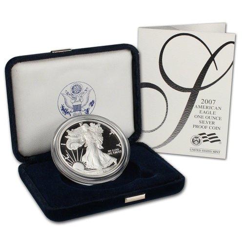 2007 W American Silver Eagle Proof $1 OGP U.S. Mint ()