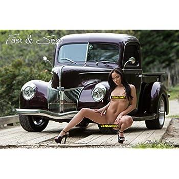 Hot nude car models