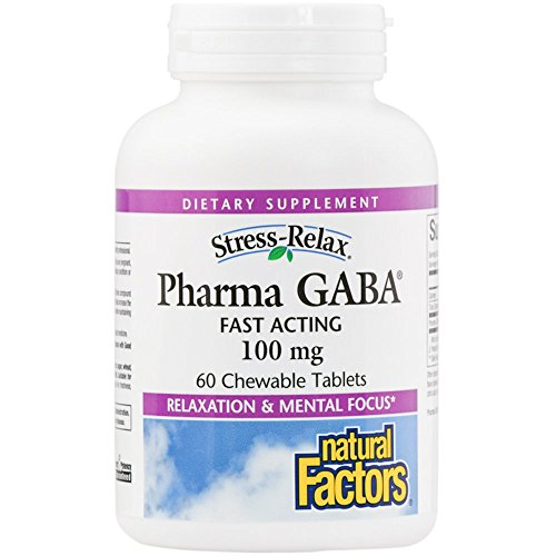 Natural Factors - Stress-Relax Pharma GABA 100mg, Fast Acting, 60 Chewable Tablets