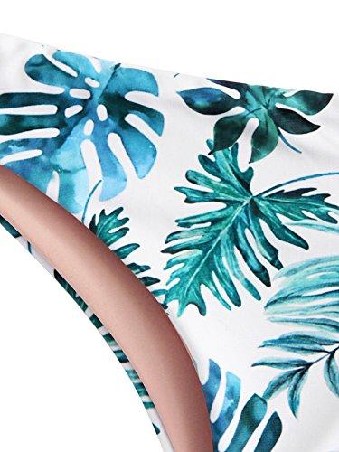 9a7c4ae0a1d9b SweatyRocks Women s Sexy Bikini Set Removable Strap Wrap Padding Ribbed  Swimwear Set