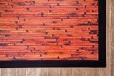 Anji Mountain Cobblestone Bamboo Rug, 5 x