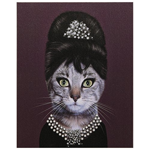 Empire Art Direct Pets Rock Breakfast Graphic Wrapped Cat Canvas Wall Art, 20