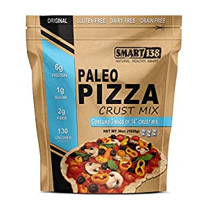 Paleo Pizza Crust Mix // Just Add Water // Grain-Free, Gluten-Free, Dairy-Free, Yeast-Free Non-Rising Dough (Original Style, 36oz (3-12oz Packets))